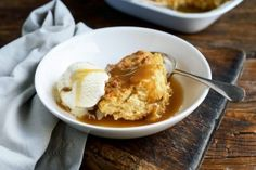 Winter desserts - caramel self saucing pudding and apple and date crumble