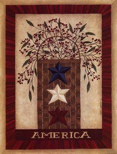 America Fine-Art Print by Cindy Shamp at UrbanLoftArt.com