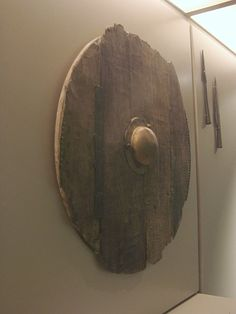 """Migration period shield, National Museum of Denmark, Copenhagen. """"The Migration Period, also known as the period of the Barbarian invasions or of the Völkerwanderung[1] (""""migration of peoples"""" in German), was a period of intensified human migration in Europe from about 400 to 800 AD."""""""