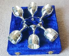 Vintage Silver-Plated Goblets Set of 6 by PenelainAntiques on Etsy