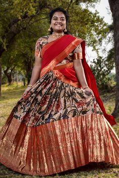 Half Saree Lehenga, Indian Lehenga, Saree Look, Anarkali, New Saree Designs, Lehenga Designs, Saree Blouse Designs, Psychology Facts, Indian Wear