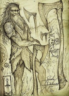 The Green Knight by Cedarlore Forge