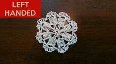 Left Hand: Crochet Motif - Windmill Pattern, Show Your Crafts and DIY Projects. Crochet Motif, Hand Crochet, Left Handed Crochet, Windmill, Crochet Earrings, Diy Projects, Flowers, Pattern, Crafts