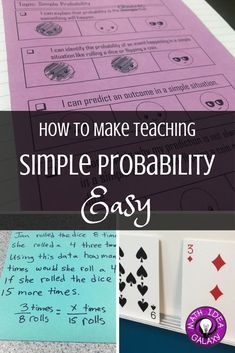 How I use I Can statements in the interactive math notebook to break down simple probability. This makes teaching and planning the unit SOOO much easier. Includes a free copy of I Can statements & freebie for teaching problem solving strategy (C.U.B.E.S.)