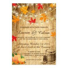 Fall Save The Date With Tree Fall Festival Invitation Fall - Fall wedding invitation templates