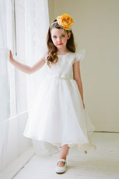 9cb01b12f02 This precious glitter mesh  amp  dim satin gown is perfect for your little  angel! Blush Flower Girl ...