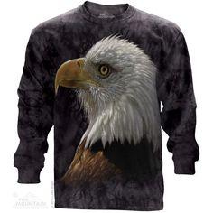 The Mountain Bald Eagle Portrait Long Sleeve Tee