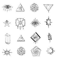 Amazing Geometric Tattoos For 2020 - Page 11 of 99 - CoCohots Finger Tattoos, Body Art Tattoos, Sleeve Tattoos, Mini Tattoos, Small Tattoos, Tattoos For Guys, Eye Illustration, Inspiration Tattoos, Poke Tattoo
