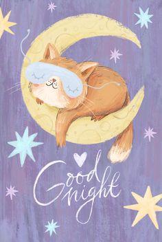 Good Night Cat, Good Night Love Quotes, Good Night Sleep Tight, Good Night Messages, Good Night Moon, Good Night Image, Good Night Greetings, Good Night Wishes, Animated Emojis