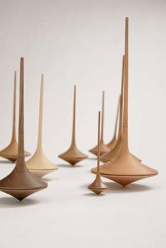 ∷ Variations on a Theme ∷ Collection of  Wooden Spinning Tops – Pucci Manuli