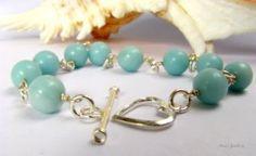 amazonite Sterling Silver Bracelets, Beaded Bracelets, Gemstones, Beads, Rings, Jewelry, Beading, Jewlery
