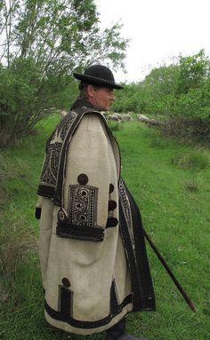 Hungarian Shepherd in traditional coat