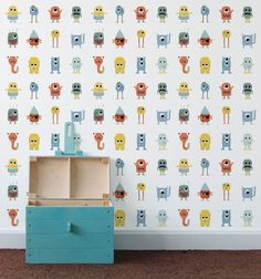 From quirky kitties to cityscapes, Dutch company Perron 11 offers a range of wall decals and wallpaper perfect for any nursery or kids' room. Playroom Wallpaper, Funky Wallpaper, Kids Wallpaper, Wall Stickers, Wall Decals, Moroccan Design, Baby Decor, Decoration, Kids Bedroom
