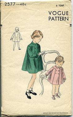 Girls coat #pattern Vogue 2577 by bytehaus, via Flickr