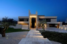 House In Madrid / A-cero.  magnifico!  click 4 pics, elevations & sections.