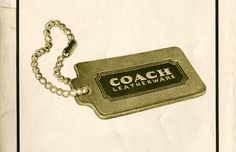Our signature hangtag from the pages of the 1974 Coach Catalog.