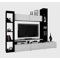 Achetez votre Meuble TV mural 211 cm ébene/ blanc et faites le plein de promotion sur le salon. 20€ offerts pour 200€ et 40€ offerts pour 400€ d'achat. Livraison offerte dès 25€ ✓