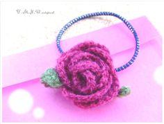 かぎ針編みのバラのヘアゴムの作り方|編み物|編み物・手芸・ソーイング|ハンドメイドカテゴリ|アトリエ