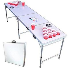 Dry Erase Beer Pong Table With Cup Holders