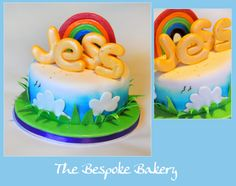 Happy sunshine cake by The Bespoke Bakery, Cambridge