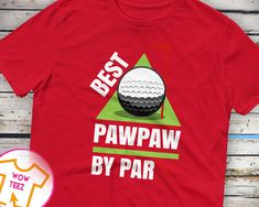 Funny Golfing Shirt for Pawpaw - Best Pawpaw by Par. Ideal gift from Children or Grandkids for Father's Day, Bday and Xmas. Free Shipping by WowTeez on Etsy Funny Golf Shirts, Grandad Shirts, Golf Humor, Fleece Hoodie, Grandkids, Xmas, Free Shipping, Hoodies, Trending Outfits