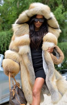 2017 GOLDEN ISLAND FOX FUR COAT HOOD CLAS OF CHINCHILLA SABLE MINK SILVER JACKET | Clothes, Shoes & Accessories, Women's Clothing, Coats & Jackets | eBay!
