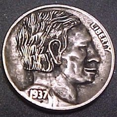 Mike Pezak Hobo Nickel, Buffalo, Coins, Carving, Artist, Rooms, Wood Carvings, Artists, Sculptures