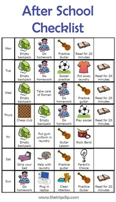 This drag and drop after school routine creator from The Trip Clip is a great way to help everyone get through those tough after school hours. It can even help parents keep track of a kid's busy schedule!