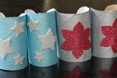 Make super hero cuffs from an empty paper roll