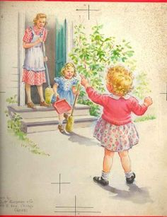 Eleanor Campbell's Dick and Jane Illustrations