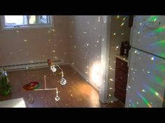 Crystal Ball Rainbow Mobile now with sunlight! - YouTube