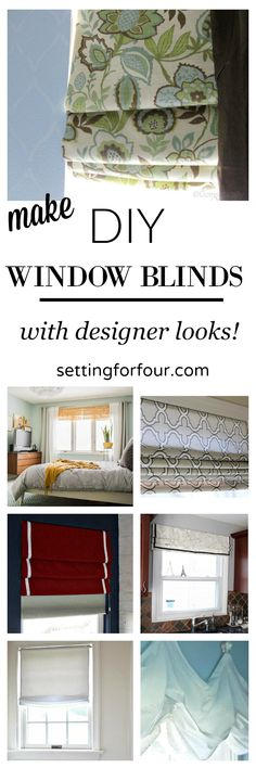 See 7 beautiful DIY window blinds to make yourself - they are the ultimate finishing touch to boring, bare windows and will add color and pattern to a room!