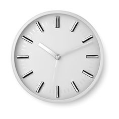Orologio analogico da paretein PS e vetro 1 batteria AA