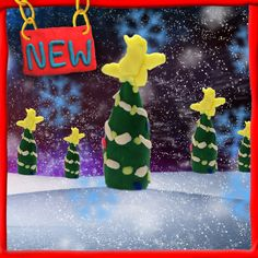 Maak een Play-Doh kerstboom voor op je eigen kamer.