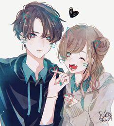 Saved by Sheii. Saved by Sheii. Anime Girl Cute, Beautiful Anime Girl, Kawaii Anime Girl, Anime Art Girl, Anime Siblings, Anime Couples Manga, Cute Anime Couples, Anime Cupples, Dark Anime