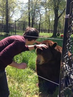 Ian Somerhalder - 10/04/14 - iansomerhalder petting Baloo #blt #noahsark our animals loved Ian http://pic.twitter.com/pUaZyZtB8e - Twitter & Instagram Pictures