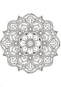 """Mandala comes from Sanskrit word """"mandal"""" which means Circle. In Hinduism & Buddhism religion, it is a symbol of spiritual and ritual, which represents the universe. In general, Mandala is a round shaped design or pattern. It has now become popular term for picture, diagram, chart or any geometric pattern."""