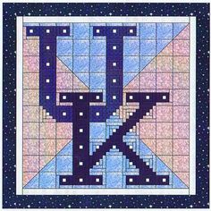 University of Kentucky Quilt Pattern, Alphabet Soup by AD Designs at Creative Quilt Kits