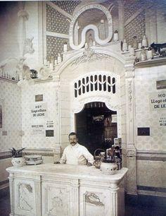 Lechería. La Martona. Foto de 1908. Esta empresa tenía locales similares en distintos barrios de la Capital y del Gran Buenos Aires.