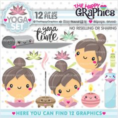 ★New listing! Yoga graphics for COMMERCIAL USE - Yoga cliparts - Meditation
