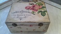 DIY decoupage wooden box