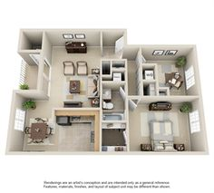 4 Bedroom Small House Plans 3d 2 Things To Wear Pinterest House Plans