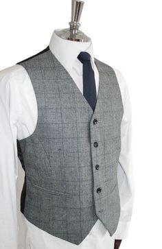 grey tweed slim fit waistcoat - Google Search