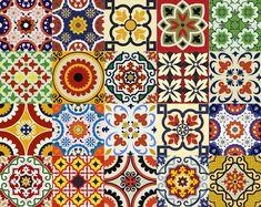 spanish Set of 24 Tiles Decals Tiles Stickers Tiles for walls Kitchen Bathroom D