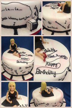 Karaoke cake with sugar likeness