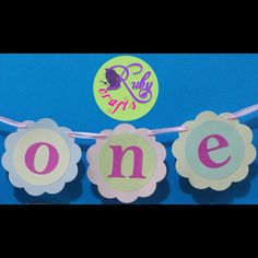 ONE bunting banner by Ruby Crafts Bunting Banner, Letters, Crafts, Decor, Manualidades, Decoration, Bunting Bag, Letter, Handmade Crafts