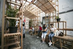 Orizzontale Activates the Street with Wooden Intervention in the Azores Islands