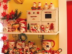 Christmas treasures and I have that little stove. Whoo Hooo