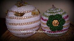 sfere di lana uncinetto natalizie