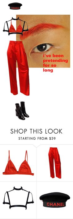 """""""Untitled #96"""" by yourlocalhuman ❤ liked on Polyvore featuring T By Alexander Wang, ESCADA and Chanel"""